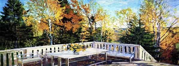 Осень. Веранда