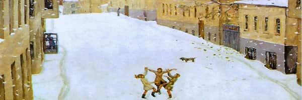 Попова «Первый снег»