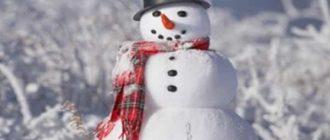 Как мы лепили снеговика